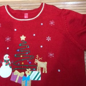 Sweaters - Red Christmas tree sweater. 🎄